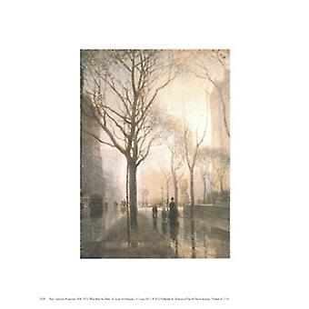 Plaza After the Rain Poster Print by Paul Cornoyer (8 x 10)