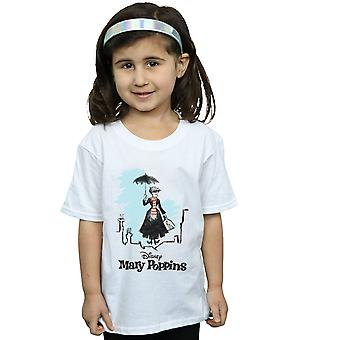 Disney Girls Mary Poppins Rooftop Landing Colour T-Shirt