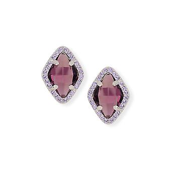 Amethyst earrings with crystals from Swarovski 403