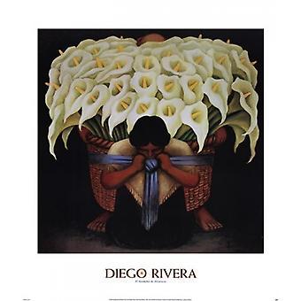 El Vendedor de Alcatraces Poster Print by Diego Rivera (28 x 32)