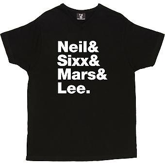 Motley Crue Line-Up V-Neck Black Men's T-Shirt