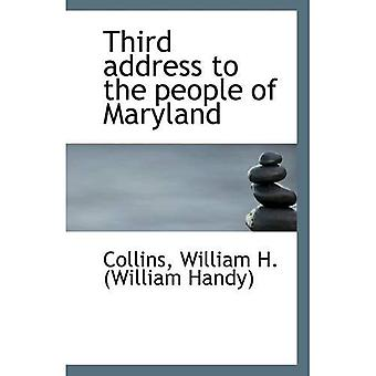 Third address to the people of Maryland