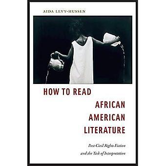Gewusst wie: afrikanische amerikanischen Literatur lesen: Post-bürgerlichen Rechte, Fiktion und die Aufgabe der Interpretation