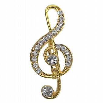ملاحظة الموسيقية المفضلة لديك نغمة الذهبي خمر أنيقة على شكل بروش هدية