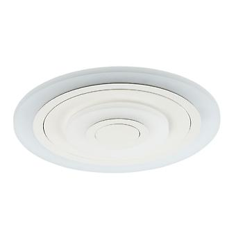 Glasberg - LED Flush Ceiling Light Small Round In White 661016001