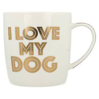 Menor & Pavey eu amo meu cachorro porcelana caneca LP33653