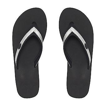 Animal Swishie Wedge Sandals in Black