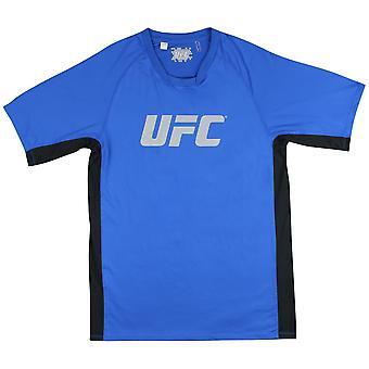 UFC Mens Lateral Short Sleeve Performance Shirt - Blue/Black