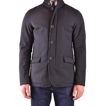 Herno Ezbc034029 Men's Blue Polyester Outerwear Jacket