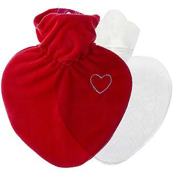 Hugo Frosch Hot Water Bottle In Love Heart Cover 1L (0206)