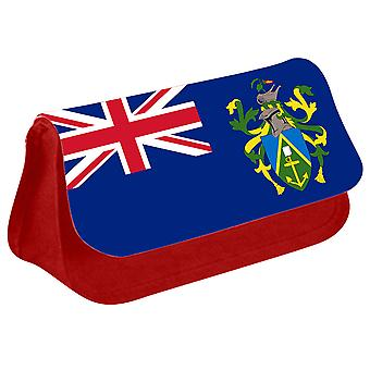 Pitcairn Islands Flag Printed Design Pencil Case for Stationary/Cosmetic - 0228 (Red) by i-Tronixs