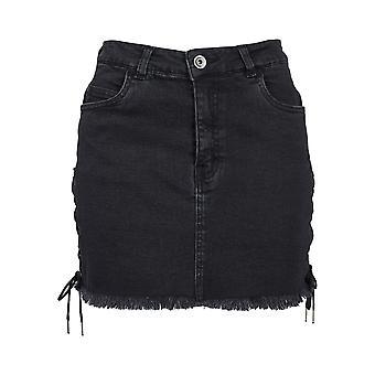 חצאית ג ' ינס העירוני קלאסיקה נשים דנים תחרה למעלה