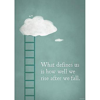 Grindstore What Defines Us Is How We Rise Mini Poster