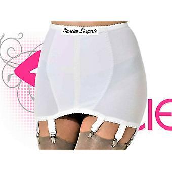 Nancies Lingerie 6 Strap Lycra Hosiery Shapewear Girdle with Garters