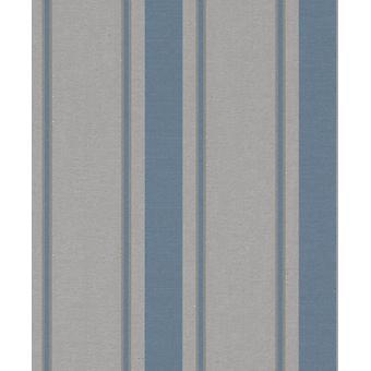 Grijs blauw gestreept glitter behang glans pasta muur getextureerde Rasch mijn momenten