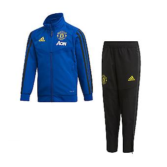 2019-2020 Man Utd Adidas Mini Presentation Tracksuit (Blue) - Infants