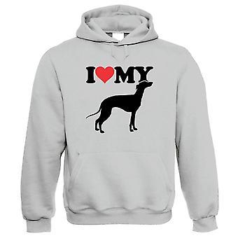I Love My Greyhound Hoodie - Honden Gift Him haar verjaardag