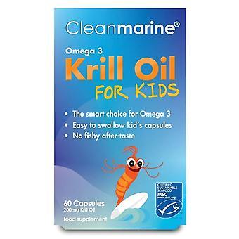Huile de krill Cleanmarine pour enfants 200mg Marine Gelcaps 60 (NLF047)