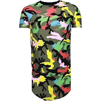 Color Army Print - T-Shirt - Black