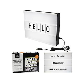 Light Up Cinematic Message Board