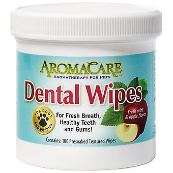 Professional Pet Products AromaCare Dental Wipes - Healthy Teeth & Gums 100 Pack