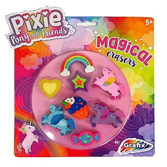 Pixie Pony and Friends Magical Erasers, Pack of 8
