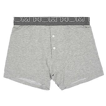 Hom VINTAGE Button Front Boxer Brief, Grey, X-Large