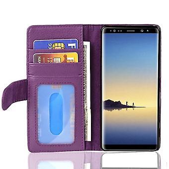 Fodral för Samsung Galaxy NOTE 8 vikbart telefonhölje - lock - med stativfunktion och kortfack