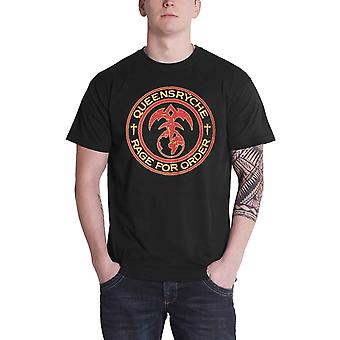 Queensryche T Shirt Rage Of Order band logo new Official Mens Black