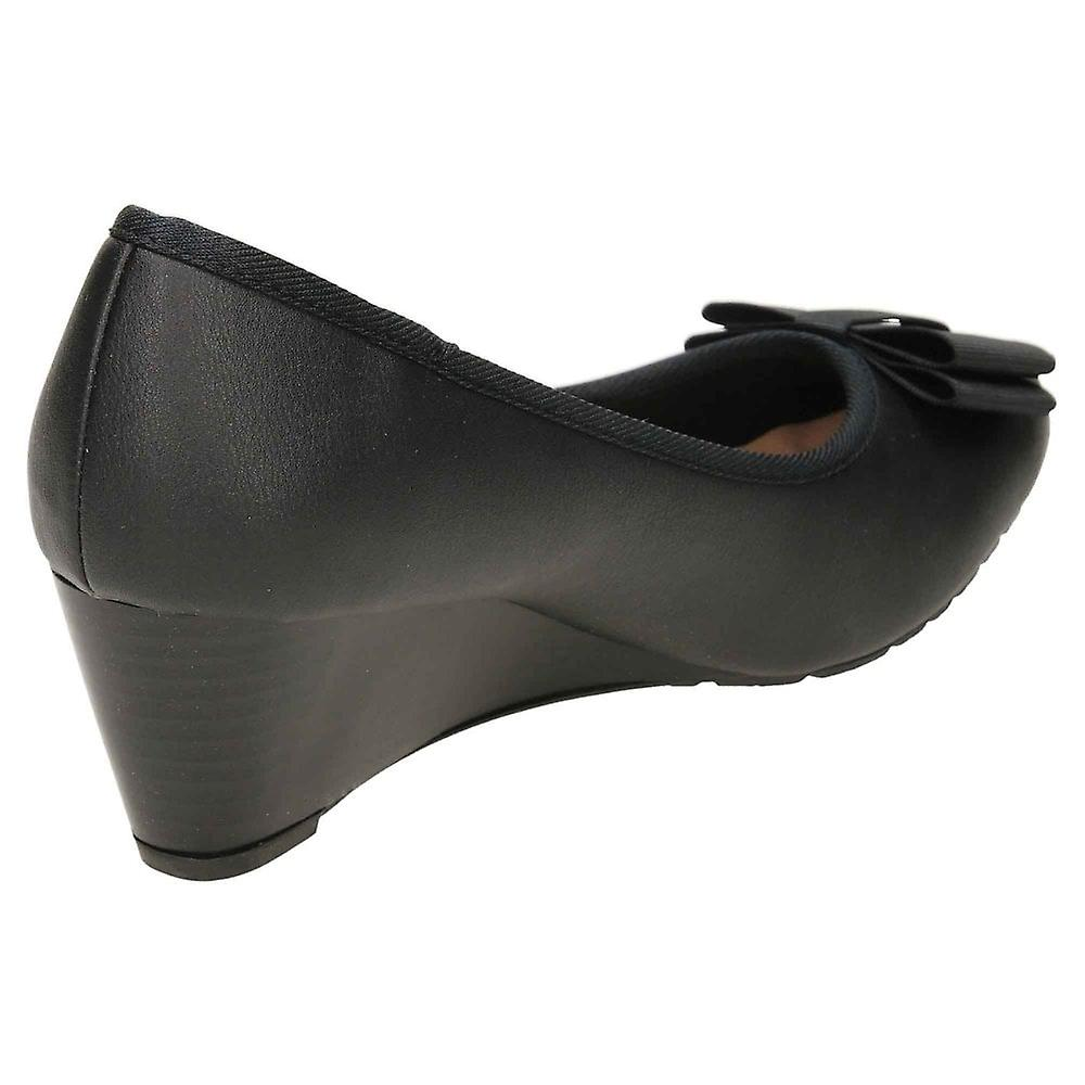 Comfort Plus Wide E Fit Wedge Heel Court Shoes