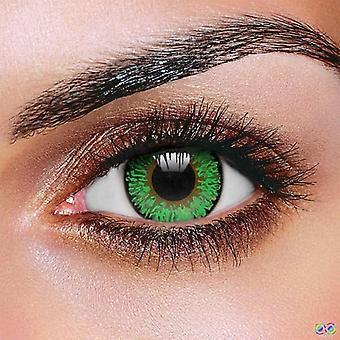 Lenti a contatto tono verde 3 (coppia)
