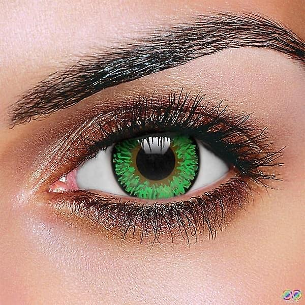 Green 3 Tone Contact Lenses (Pair)