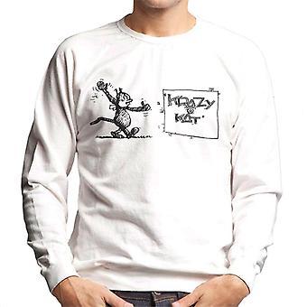 Krazy Kat Wave Men's Sweatshirt