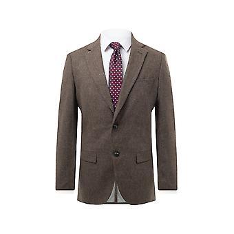 Dobell miesten kaura puuro Donegal Tweed takki säännöllinen sovi lovi käänne