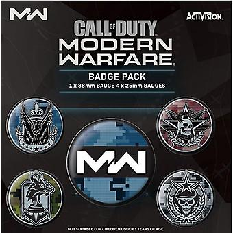 Call of Duty Modern Warfare knapp badge set