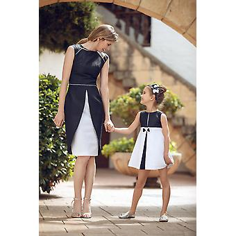 Black and white matching dress set