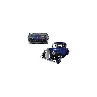 MotorMax American Classics - 1937 Ford Pickup Blue   1:24