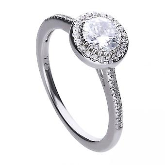 Diamonfire Silver White Cubic Zirconia Cluster Ring R3616