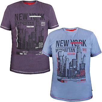 Duke D555 Gran Tall Kingsize Delta manga corta Crew Cuello Camiseta Nueva York