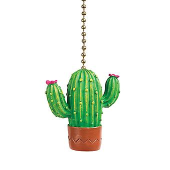 Clementine Design Cactus Plant Ceiling Fan Light Dimensional Pull Resin Green