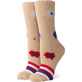 Stance Bundle Up Cozy Crew Socks in Tan
