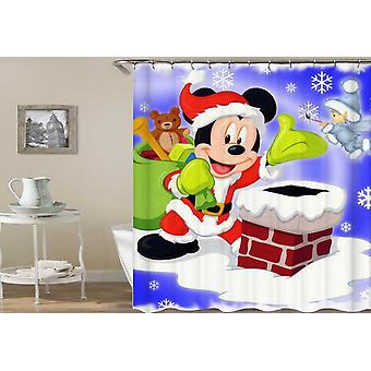 Santa Mickey Mouse Shower Curtain