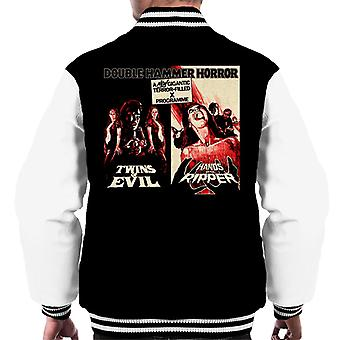 Hammer Horror Films Twins Ripper Terrifying Double Bill Men's Varsity Jacket