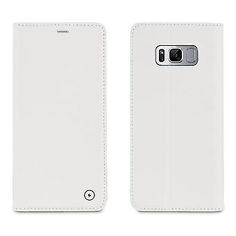 Case For Samsung Galaxy S8 Plus Stylish White Portfolio
