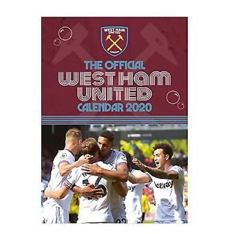 West Ham United 2020 officiel vægkalender