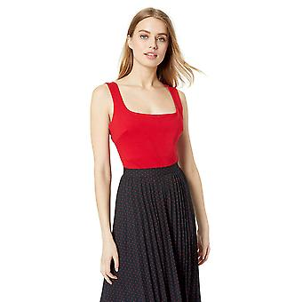 ASTR the label Women's Nellie Sleeveless Solid Stretch, Cherry Red, Size Large