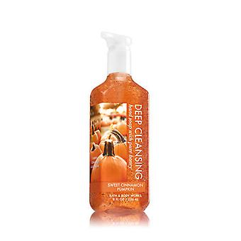 Bath & Body Works Sweet Cinnamon Pumpkin Deep Cleansing Hand Soap 8 oz / 236 ml ( 2 Lot )