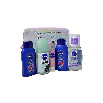 Nivea Up, Up and Away Travel Essentials Shower, Deo Stick, Cleanse, Lip Balm