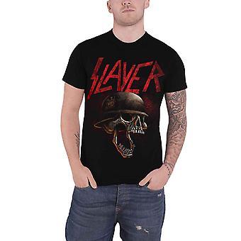 Slayer T Shirt Hellmitt distressed band logo new Official Mens Black