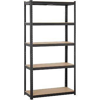 Heavy Duty 5 Tier Garage Regale Einheiten Metall Lagerung Regale Schuppen Utility Rack, 180cm x 90cm x 40cm, 175KG pro Regal